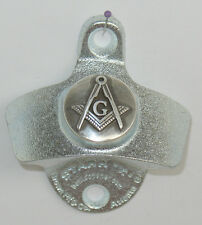 BOTTLE OPENER Silver Masonic Masons Freemason StarrX Cast Iron Wall Mount