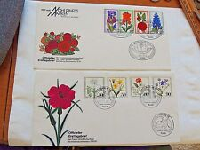 """1976 & 1980 """"Floral Themed"""" Berlin Germany First Day Cover Issues"""