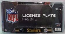 NFL Steelers License Plate Frame Chrome Plated  Sealed package New