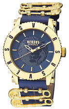 Versus by Versace S22100016 Madison Blue Dial Blue Leather Strap Women's Watch