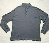 BANANA REPUBLIC Men's Gray Sweatshirt 1/4 Button Down Pull Over Mock Neck Sz XL