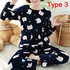 Women Cute Pajamas Set Warm NigLJgown Female Cartoon Animal Pants Sleepwear B LJ