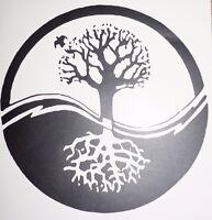 Bumper car Vinyl Sticker Motorbike decal window Bike vehicle tree of life yin