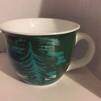Starbucks Holiday Coffee Mug Cup 2014 Green Christmas Tree 14 oz