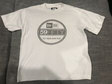 NWOT New Era White Tshirt 5950 Logo Medium