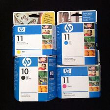 New Full Set(BCMY) Genuine HP 10/11 Ink C4844A C4837A C4836A C4838A