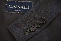Canali Gray Woven 100% Wool Textured Sport Coat Jacket Sz 44R