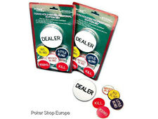 POKER DEALER & BLIND BUTTON SET TEXAS HOLDEM BUTTONS