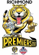 2017 Premiership Premiers Richmond Tigers CARICATURE STICKER Grand Final
