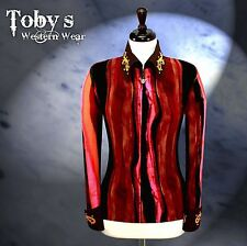 SMALL  Western Showmanship Rail Horsemanship Show Jacket Shirt Rails Rodeo Queen