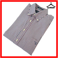 Gant Mens Avenue Dobby Regular Fit Shirt L Large Striped Cotton Long Casual