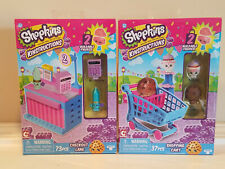 2 count Shopkins Kinstructions Checkout Lane Shopping Cart * 110 pieces * NEW