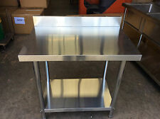 Brand New Commercial Stainless Steel Kitchen Bench with splash back 1500x600x900