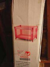 Kiddi care Rest & Play Luxury Travel Cot/Playpen (120 x 60 cm) - Pink