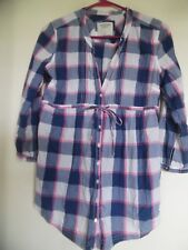 Abercrombie & Fitch Plaid Check Shirt Dress Tunic S M