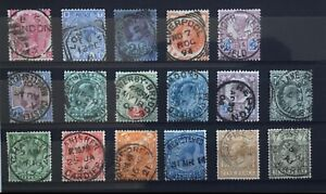 GB Queen Victoria - George V used selection CDS & squared circle cancels.