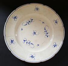 Creamware vintage pre Victorian antique hand painted flower design plate