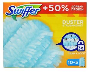 SWIFFER DUSTERS REFILL DISPOSABLE 15pcs TRAP & LOCK DUST CLEANING MULTI SURFACES