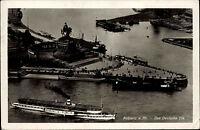 Rhein Dampfer Schiff passiert Koblenz Luftaufnahme Dt. Reich Feldpost-AK 1941