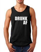 Men's Tank Top Drunk AF Shirt Drinking Team Bachelor Party St Patricks Day Tee