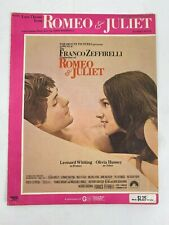 Romeo and Juliet Love Theme Piano Solo Sheet Music Book Brimhall Vintage 1969