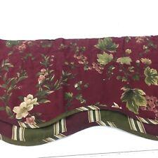 2 WAVERLY Chianti FAIRFIELD Cabernet Scalloped VALANCES Grapes Stripes Floral
