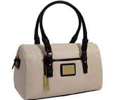 New Calvin Klein Logo Jacquard Black / Ivory Satchel Bag