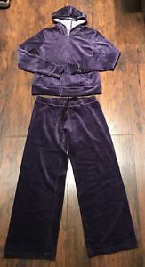 Womens PURPLE  leisure suit  jogging suit size XL vintage Brownstone Studios