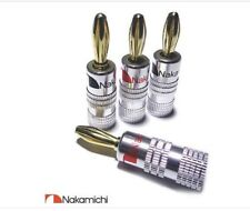 Nakamichi Banana Plugs X 10 HIFI High Quality Gold plate Speaker Plugs Audio Amp