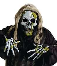 Skeleton Zombie Latex Mask and Gloves Kit Halloween Adult Costume Accessory