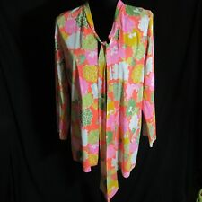 Bali Swim Cover Top Shirt S/M The Free Fall Colorful Swim Cover Hippy Vintage
