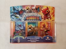 ☆NEW SKYLANDERS GIANTS SCORPION STRIKER BATTLE PACK ☆ ZAP ☆ CATAPULT ☆ HOT DOG ☆