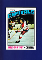 Nelson Pyatt RC 1976-77 TOPPS Hockey #98 (NM) Washington Capitals