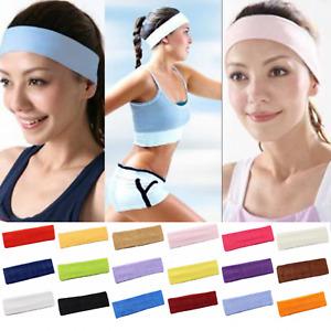 Sport Haarband Stirnband Haarbänder Schweißband Yoga Stirntuch Elastisch