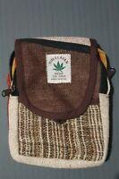Hemp Bag Shoulder Strap Messenger Pouch Passport Bag Hippie Festival