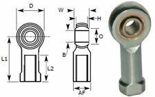 8mm Female Rod End Bearing, Left Hand Thread M8X1.25 Rose Joint, Bronze Liner