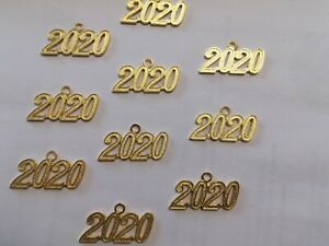 20 gold 2020 Year Charm Decorations Class Of Graduation Charms Pendants
