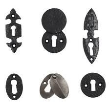 Black and Cast Iron Escutcheon Plates Keyhole Cover