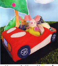 PATTERN - Mr & Mrs Mouse's Flashy Red Car - felt softie car PATTERN