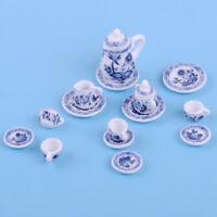 Porzellan Tee Set 1:12 Puppenhaus Teeservice Teegeschirr Miniatur Puppenstube