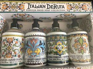 Deruta La Tasse Italian Hand Soap 4 Pack Coconut Gardenia Orange Beach 21.5 OZ