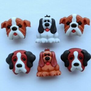 DOG DAYS 3D Buttons Galore Pets & Pals Puppy Doggy Pup Show Animal Novelty Craft