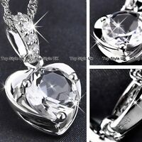 CHRISTMAS GIFTS FOR HER - Diamond Heart Necklace Women Mother Daughter Wife K8
