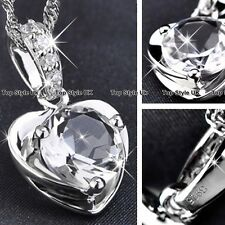 XMAS SALE GIFTS FOR HER - Diamond Heart Necklace Women Mother Daughter Wife K7