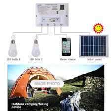 System Kit 2 Ampoules Lampe Portable Solaire Batterie De Secours Smartphone USB