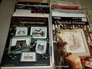 Lot 21 Cross Stitch Patterns, Paula Vaughan, Stoney Creek, English Cottages