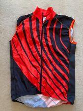 Skins Mens Deep Orange & Black Cycling Gilet-BNWT