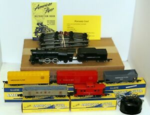 AC Gilbert American Flyer S Gauge Steam Freight Train set with full warranty
