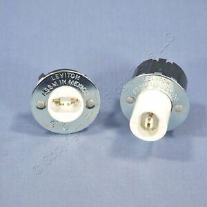 Leviton Fluorescent Lamp Holder Light Socket Slimline R17d Plunger Fixed 523 524