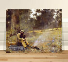 "Classic Australian Fine Art CANVAS PRINT 8x12"" Frederick Mccubbin Down On Luck"